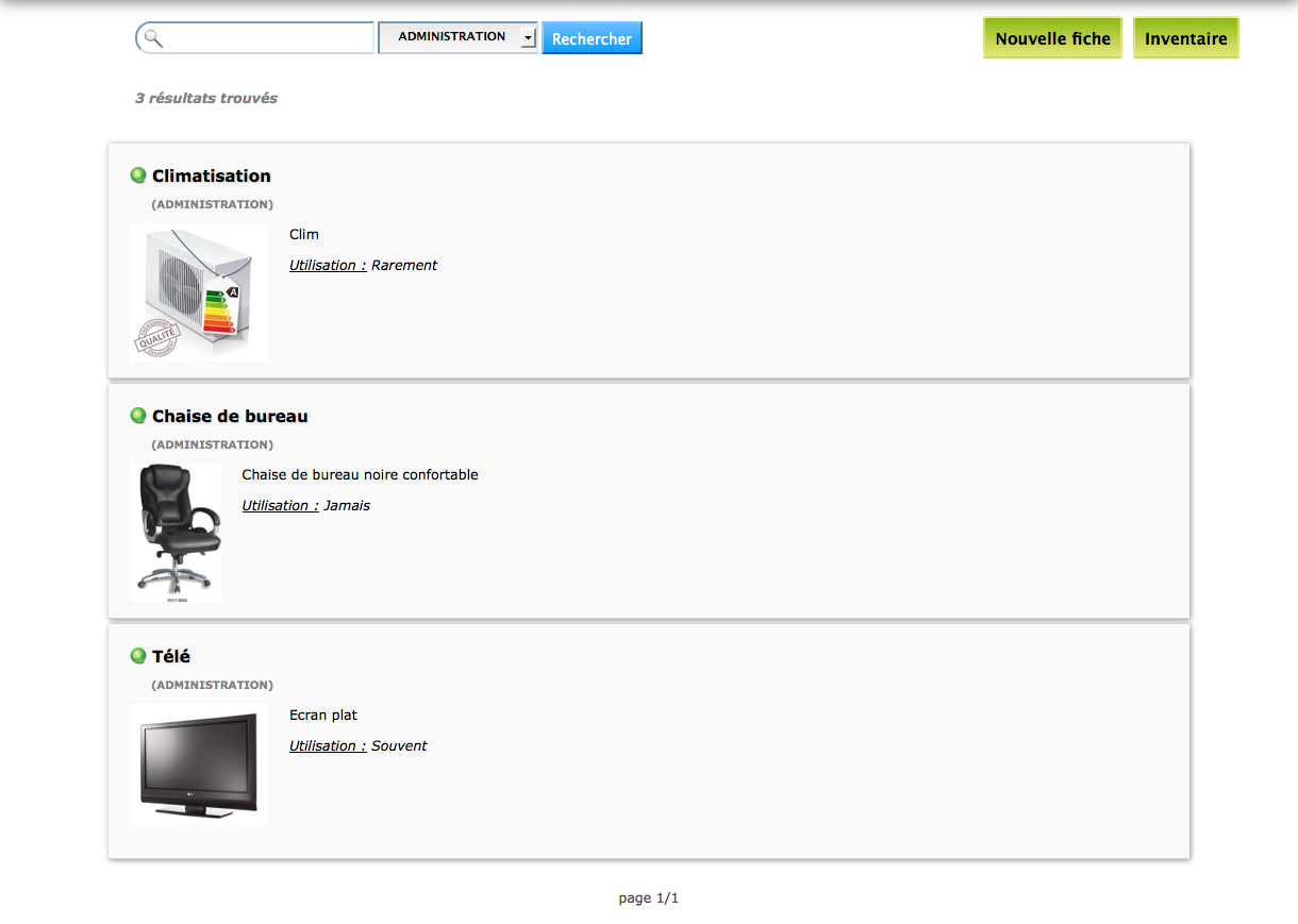 Module inventaire de phpmylab recensement et partage du for L inventaire du mobilier